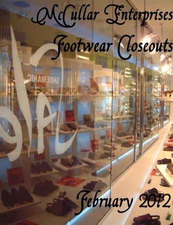 February 2012 Footwear Closeouts - ShoeDeals
