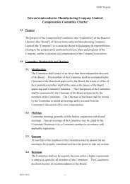 Compensation Committee Charter - TSMC