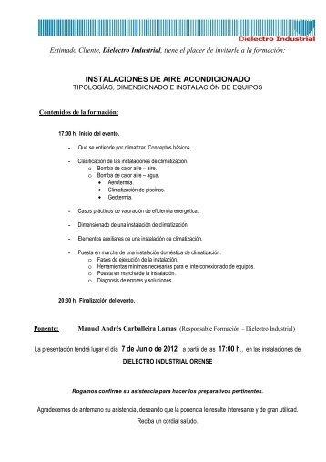 Aire Acond_7 Junio_Orense - Dielectro Industrial