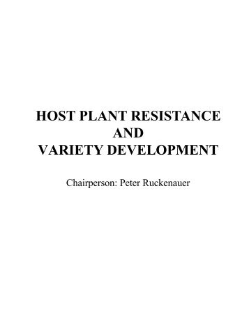HOST PLANT RESISTANCE AND VARIETY ... - USWBSI