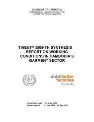 twenty eighth synthesis report on working conditions in ... - Better Work