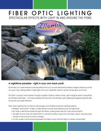 Pond Supplies: IlluminFX Pond Lights Catalog | Pondliner.com