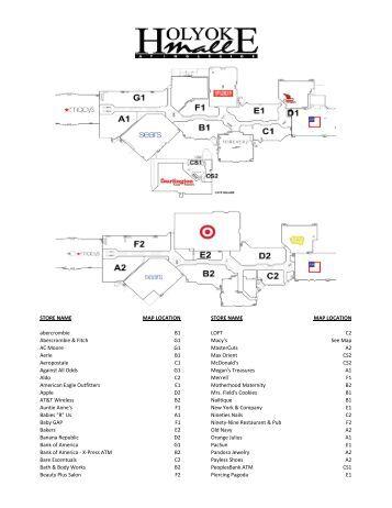 Holyoke Mall Map   ECODUALISMO