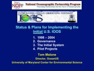 Thomas Malone - Gulf of Mexico Coastal Ocean Observing System