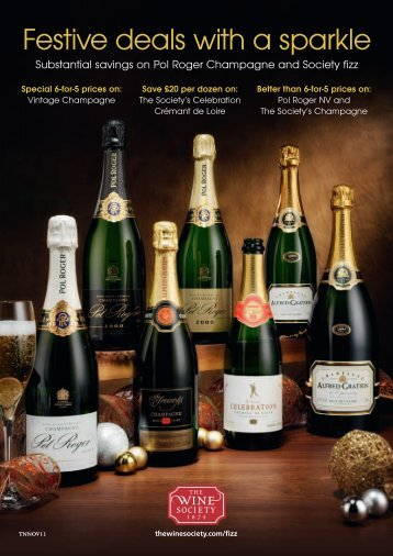 Festive deals with a sparkle - The Wine Society