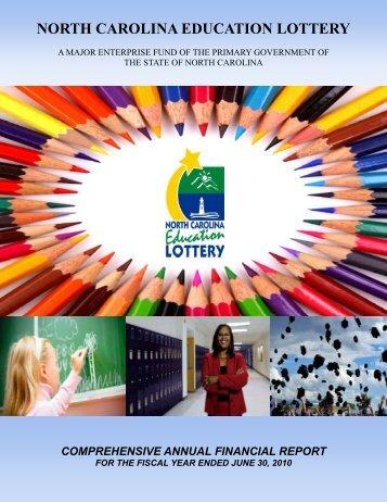 2010 CAFR - North Carolina Education Lottery