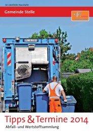 Tipps & Termine Stelle, Ausgabe 2014 - Abfallwirtschaft - Landkreis ...