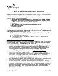 Póliza de Obtención de Ingresos de la Tropa/Grupo - Girl Scouts of ...