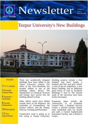 Newsletter - Tezpur University