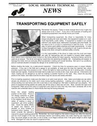 Transporting Equipment Safely - Local Highway Technical ...