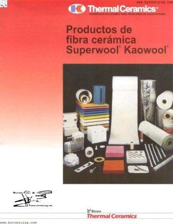 Productos de Fibra Ceramica Superwool Kaowool.pdf