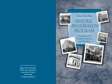 Historic Preservation Program - Village of Great Neck Plaza