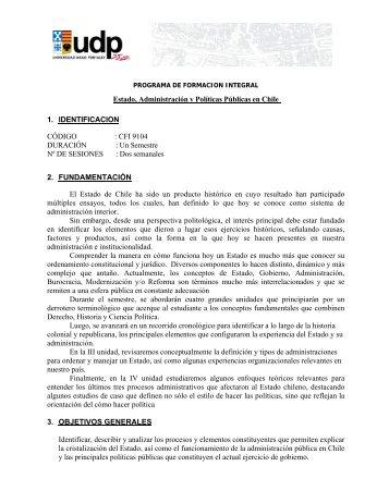 Estado, Administración y Políticas Públicas en Chile 1 ...