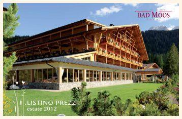 Listino prezzi estate 2012 - Hotel Bad Moos