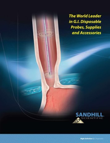 The World Leader in G.I. Disposable Probes ... - Sandhill Scientific