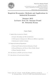 Empirical Economics: Methods and Applications in Industrial ...