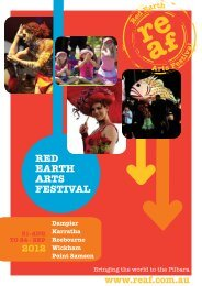 RED EARTh ARTS FESTivAl - Shire of Roebourne - The Western ...