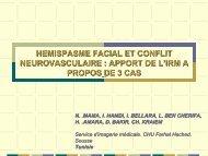 hemispasme facial et conflit neurovasculaire : apport de l'irm a ...