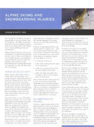 Alpine Skiing and Snowboarding Injuries