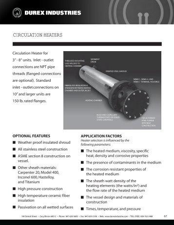 CIRCULATION HEATERS - Durex Industries