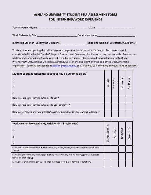 2010 Student Self Assessment Form Ashland University The main tax return (sa100). 2010 student self assessment form
