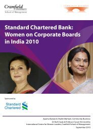 Standard Chartered Bank: Women on Corporate Boards in India 2010