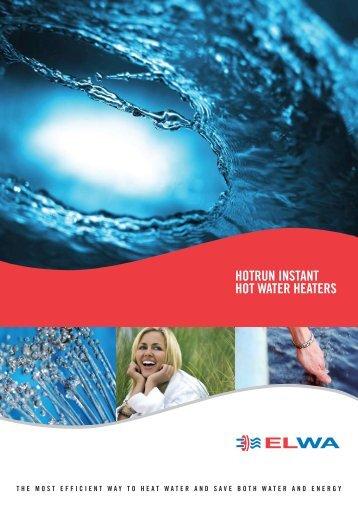 HOTRUN INSTANT HOT WATER HEATERS - Pride Industries