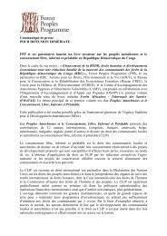 Communiqué de presse - Français - Forest Peoples Programme