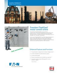 Freedom FlashGard® motor control centre - of downloads