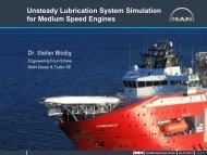 Unsteady Lubrication System Simulation for Medium Speed Engines
