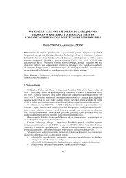 Wykorzystanie NND Integrum do zarządzania jakością w ... - PTZP