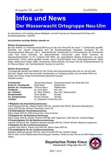 Infos und News 28 - Wasserwacht Ortsgruppe Neu-Ulm