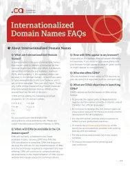 Internationalized Domain Names FAQs - CIRA