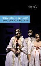 Weingartener Spielzeit Juni 2008 bis Mai 2009