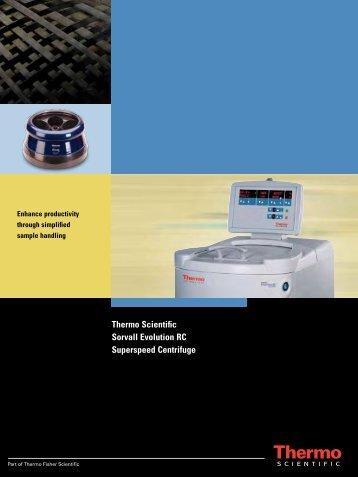 Thermo Scientific Sorvall Evolution RC ... - Fisher Scientific