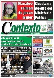 29 Macabro crimen de joven mujer - Contexto de Durango