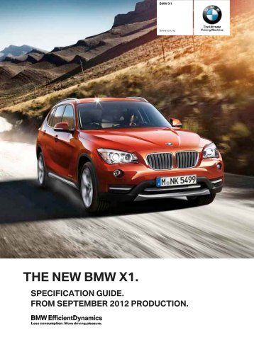 the new bmw x1.  specification guide. from ... - BMW New Zealand