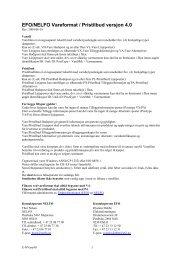 EFO/NELFO Vareformat / Pristilbud versjon 4.0 - Elektroskandia