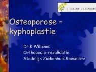 kyphoplastie - Orthopedie Stedelijk Ziekenhuis Roeselare