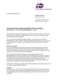 S 02-2013 Invitasjon til kurs og startskudd for UKT-prosjektet - NKF