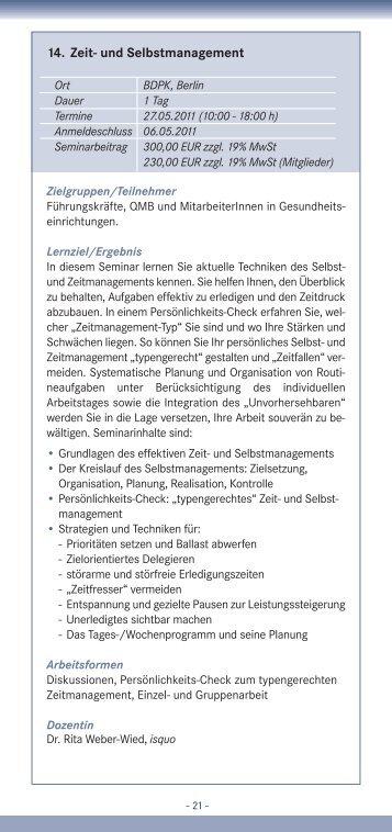 14. Zeit- und Selbstmanagement - IQMG Institut für ...