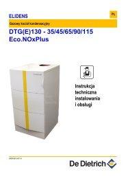 Instrukcja techniczna DTG 130-35,45,65,90115ENP - De Dietrich