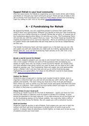A-Z of Fundraising Ideas For Communities - Rehab Fundraising