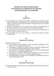 Richtlinien des Kärntner Regionalfonds für die Förderung von ...