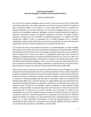 El primer grito aregüeño - Grupo de Estudios Sociales sobre Paraguay