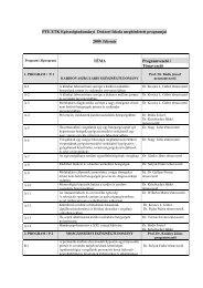 Doktori Iskola PhD programjai (2009. február) - PTE ...