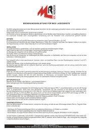 bedienungsanleitung für mgx ladegeräte - MoriRaddrizzatori
