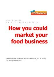 How you could market your food business - Make It Happen