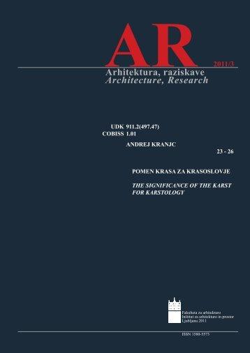 Andrej Kranjc - Fakulteta za arhitekturo - Univerza v Ljubljani