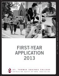FIRST-YEAR APPLICATION 2013 - St. Thomas Aquinas College